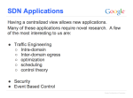 SDN Applications